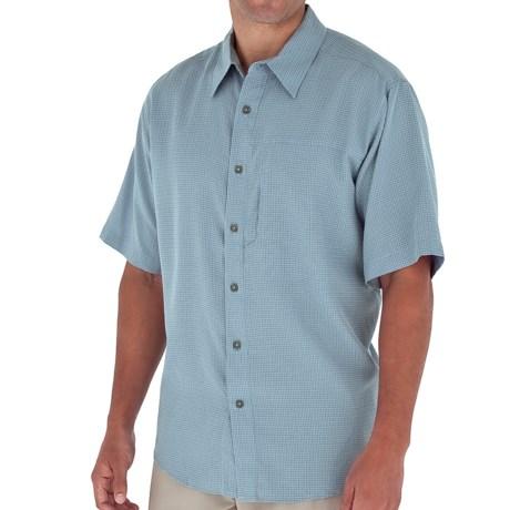 Royal Robbins Pecos Plaid Shirt - Short Sleeve (For Men) in Sky Blue