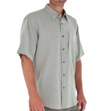 Royal Robbins Pecos Plaid Shirt - Short Sleeve (For Men) in Soapstone - Closeouts