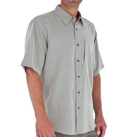 Royal Robbins Pecos Plaid Shirt - Short Sleeve (For Men) in Soapstone