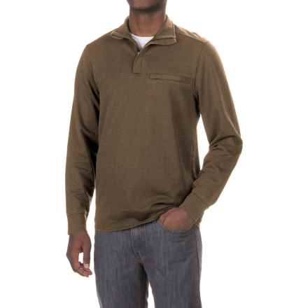 Royal Robbins Pigment Terry Sweatshirt - Zip Neck (For Men) in Desert Palm - Closeouts