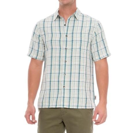 Royal Robbins Pilat Plaid Shirt - Short Sleeve (For Men) in Bluejay