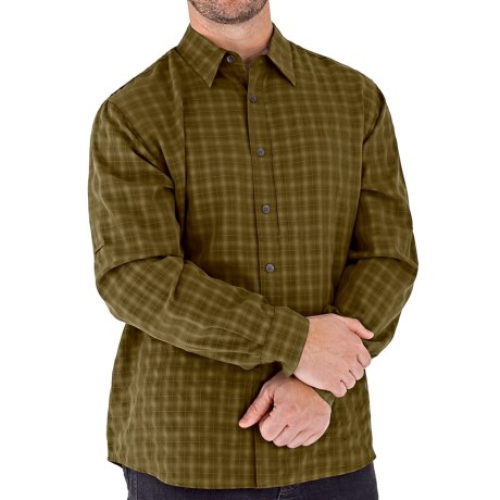Royal Robbins Piru Plaid Shirt - UPF 30+, Long Sleeve (For Men) in Turkish Coffee
