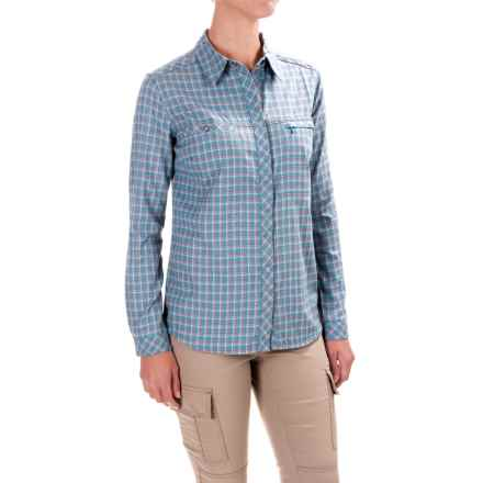 Royal Robbins Plaid Flannel Shirt - UPF 50+, Snap Front, Long Sleeve (For Women) in Cove - Closeouts