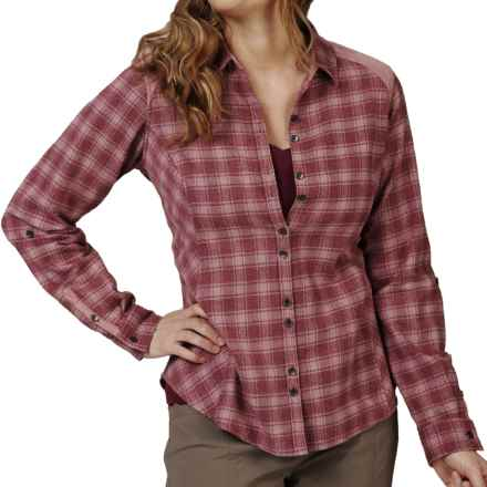Royal Robbins Plaid Shirt - UPF 35+, Long Sleeve (For Women) in Dark Cranberry - Closeouts