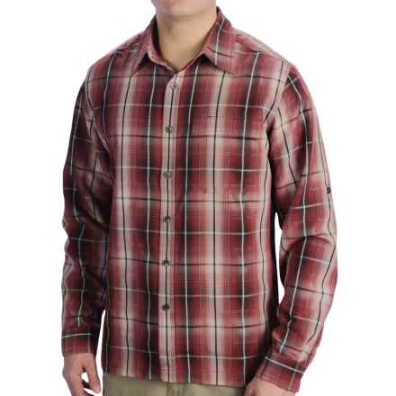 Royal Robbins Plateau Plaid Shirt - Long Sleeve (For Men) in Dark Firecracker - Closeouts