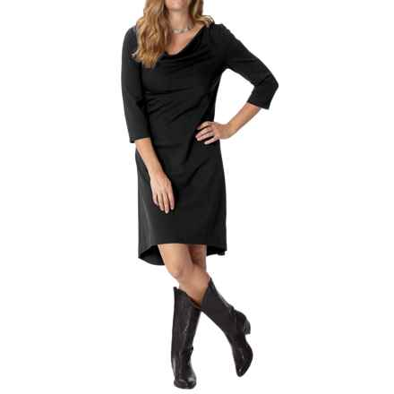 Royal Robbins Ponte Dress - UPF 50+, 3/4 Sleeve (For Women) in Jet Black - Closeouts