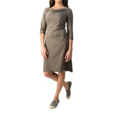 Royal Robbins Ponte Dress - UPF 50+, 3/4 Sleeve (For Women) in Taupe - Closeouts