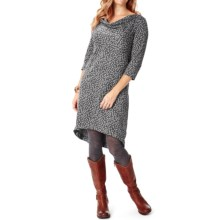 Royal Robbins Ponte Patterned Dress - 3/4 Sleeve (For Women) in Charcoal - Closeouts