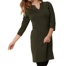 Royal Robbins Ponte Travel Dress - 3/4 Sleeve (For Women) in Dark Galaxy Green - Closeouts
