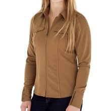 Royal Robbins Ponte Zip Shirt Jacket - UPF 50+, Long Sleeve (For Women) in Tan - Closeouts