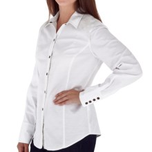 Royal Robbins Prairie Cross-Stitch Shirt - UPF 50+, Long Sleeve (For Women) in White - Closeouts