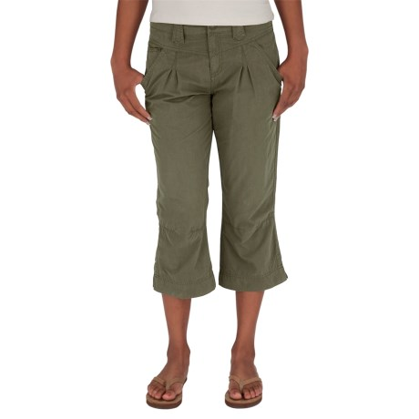 Royal Robbins Promenade Capris (For Women) in Light Olive