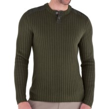Royal Robbins Quebec Henley Sweater (For Men) in Light Olive - Closeouts