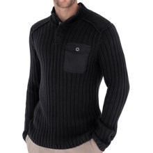 Royal Robbins Quebec Sweater - Snap Mock Neck (For Men) in Jet Black - Closeouts
