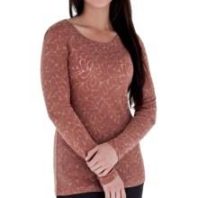 Royal Robbins Rain Drop Crew Shirt - Wool Blend, Long Sleeve (For Women) in Rum Raisin - Closeouts