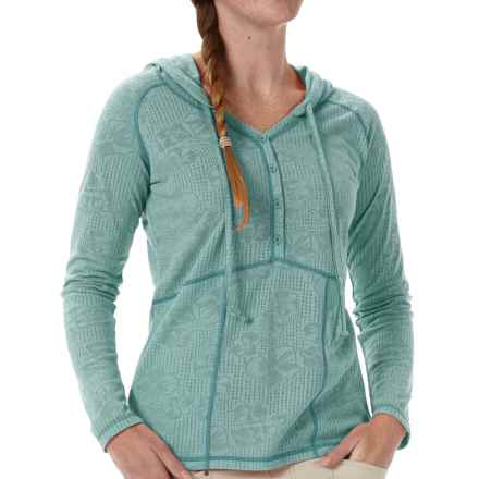 Royal Robbins Release Cotton Hoodie (For Women) in Lite Aqua - Closeouts