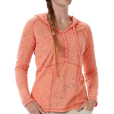 Royal Robbins Release Cotton Hoodie (For Women) in Lite Persimmon - Closeouts