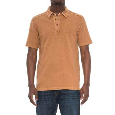 Royal Robbins Rock Terrain Polo Shirt - UPF 30+, Hemp-Organic Cotton, Short Sleeve (For Men) in Glazed Ginger - Overstock