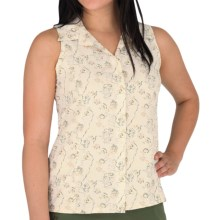 Royal Robbins Rosa Print Expedition Ripstop Shirt - UPF 40, Sleeveless (For Women) in Daffodill - Closeouts