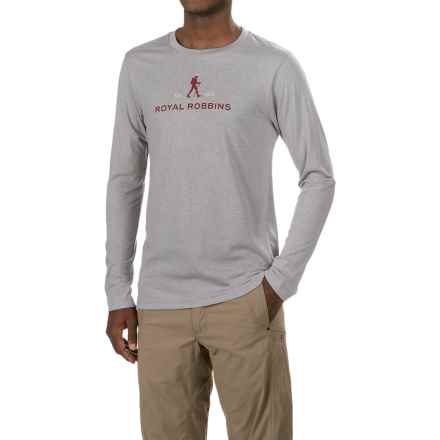 Royal Robbins RR Logo T-Shirt - Crew Neck, Long Sleeve (For Men) in Grey - Closeouts