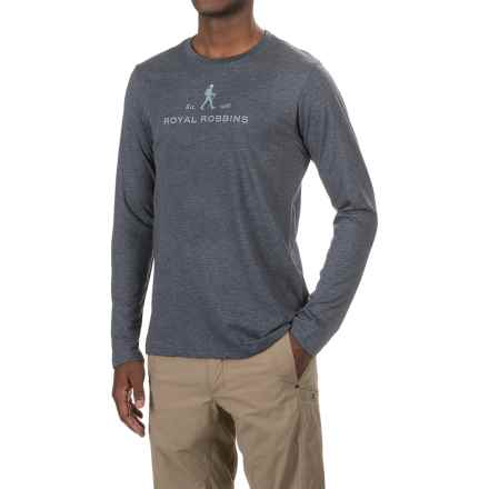 Royal Robbins RR Logo T-Shirt - Crew Neck, Long Sleeve (For Men) in Navy - Closeouts