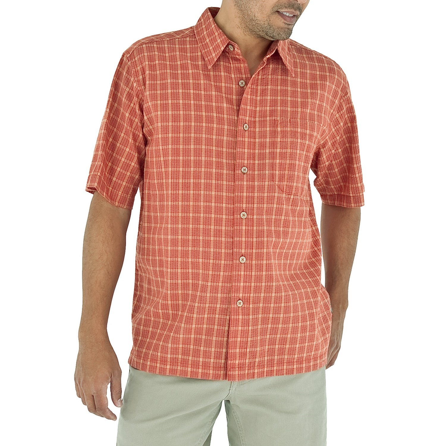 Royal robbins salida seersucker shirt short sleeve for for Mens short sleeve seersucker shirts