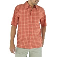 Royal Robbins Salida Seersucker Shirt - Short Sleeve (For Men) in Brick - Closeouts