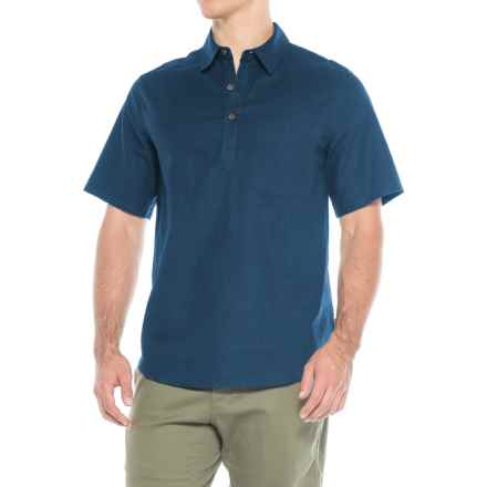 Royal Robbins Salton Sea Popover Shirt - Hemp-Organic Cotton, Short Sleeve (For Men) in Collins Blue - Closeouts