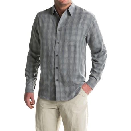 Royal Robbins San Juan Plaid Shirt - UPF 25+, Long Sleeve (For Men) in Pewter