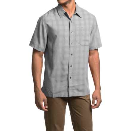 Royal Robbins San Juan Plaid Shirt - UPF 50+, Short Sleeve (For Men) in Light Pewter - Closeouts