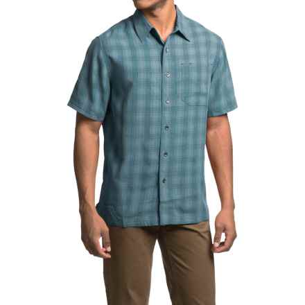 Royal Robbins San Juan Plaid Shirt - UPF 50+, Short Sleeve (For Men) in Tide Pool - Closeouts