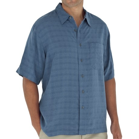 Royal Robbins San Juan Shirt - UPF 20, Short Sleeve (For Men) in Dark Blue Moon