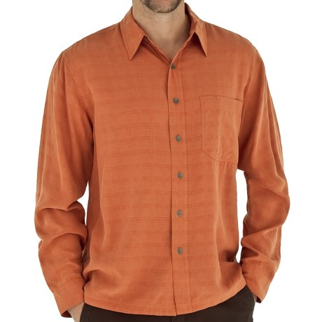 Royal Robbins San Juan Shirt - UPF 25+, Long Sleeve (For Men) in Burnt Orange