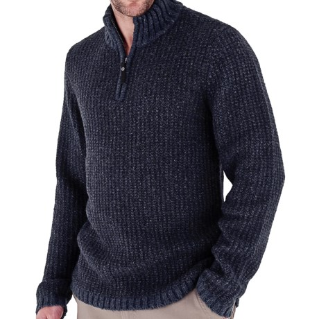 Royal Robbins Scotia Sweater - Zip Neck (For Men) in Jet Black