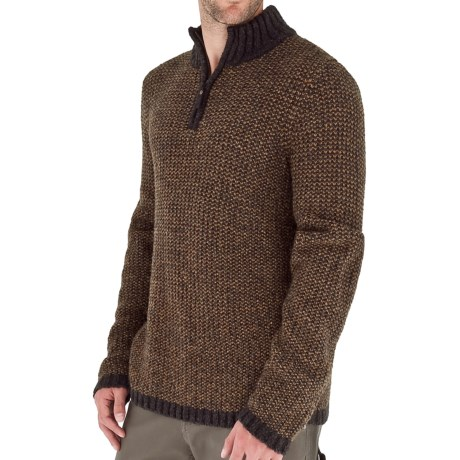 Royal Robbins Scotia Sweater - Zip Neck (For Men) in Macchiato