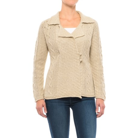 Royal Robbins Sequoia Side-Button Cardigan Sweater (For Women) in Light Khaki