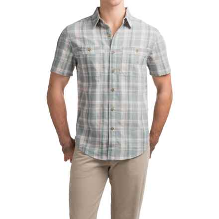 Royal Robbins Shasta Plaid Shirt - Short Sleeve (For Men) in Light Pewter - Closeouts