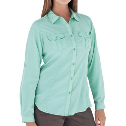 Royal Robbins Shore Line Shirt - UPF 50+, Long Sleeve (For Women) in Crystal