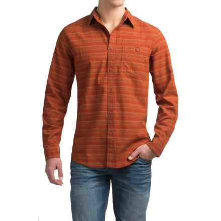 Royal Robbins Sierra Stripe Shirt - UPF 50+, Long Sleeve (For Men) in Spice - Closeouts