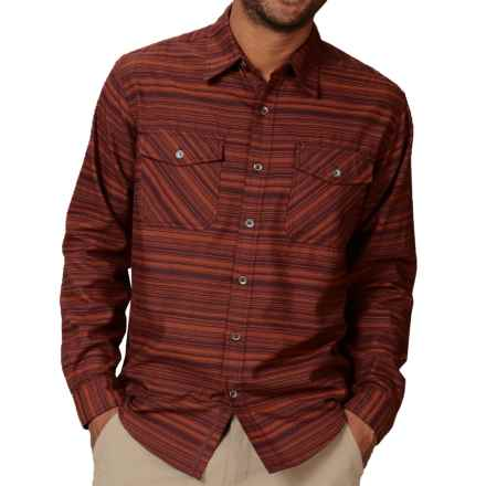 Royal Robbins Skyline Stripe Shirt - UPF 50+, Long Sleeve (For Men) in Dark Ember - Closeouts