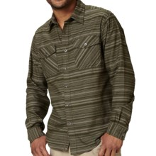 Royal Robbins Skyline Stripe Shirt - UPF 50+, Long Sleeve (For Men) in Dark Galaxy Green - Closeouts