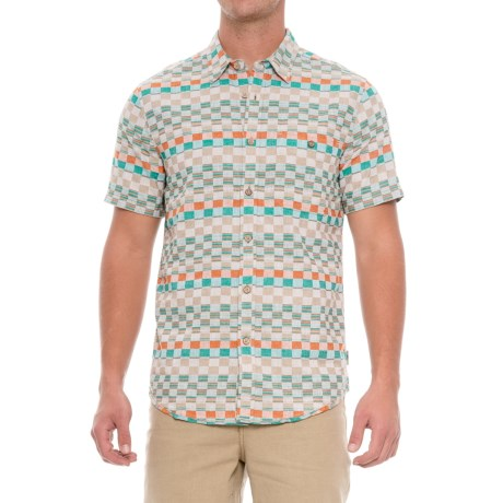 Royal Robbins Slab City Shirt - UPF 30+, Organic Cotton, Short Sleeve (For Men) in Marmalade