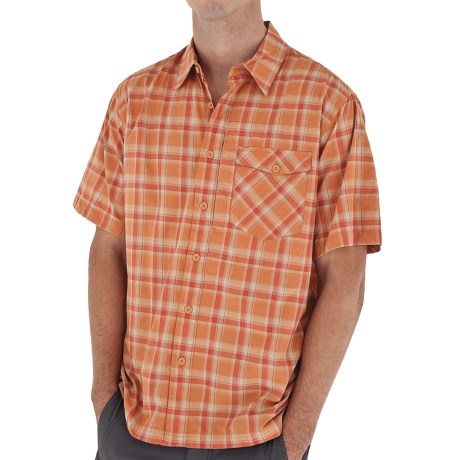 Royal Robbins Slickrock Plaid Shirt - UPF 30+, Short Sleeve (For Men) in Arizona Orange
