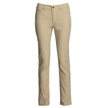 Royal Robbins Slim Jeans - Billy Goat Stretch Canvas, UPF 50+ (For Women) in Desert
