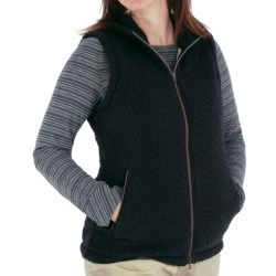 Royal Robbins Snow Wonder Fleece Vest - Hooded, Full Zip (For Women) in Jet Black
