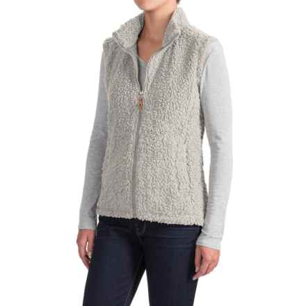 Royal Robbins Snow Wonder Fleece Vest - UPF 50+, Full Zip (For Women) in Creme - Closeouts