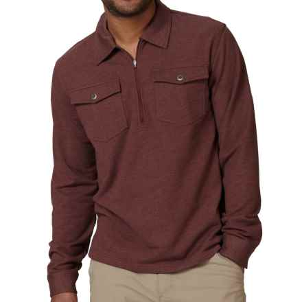 Royal Robbins Sonora Shirt - Zip Neck, Long Sleeve (For Men) in Dark Port - Closeouts