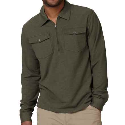 Royal Robbins Sonora Shirt - Zip Neck, Long Sleeve (For Men) in Light Olive - Closeouts