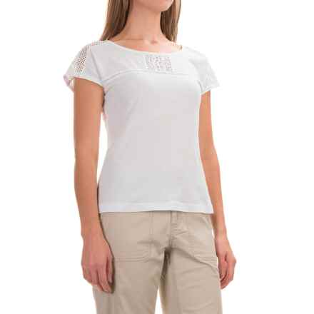 Royal Robbins Sookie Shirt - Organic Cotton, Short Sleeve (For Women) in White - Closeouts