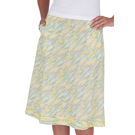 Royal Robbins Stained Glass Skirt - Slub Summer Cloth (For Women) in Dark Daffodil